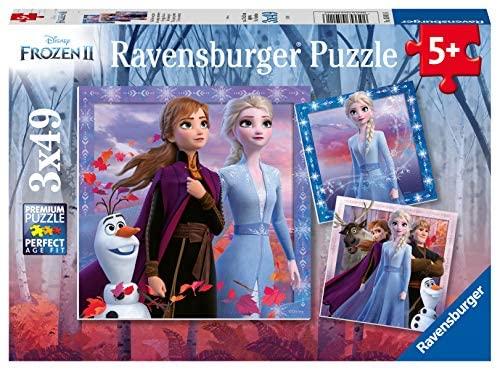 Ravensburger Frozen 2 Puzzle 3 x 49 Pezzi, Multicolore, 05011