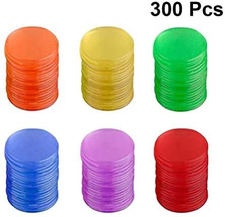 Toyvian Gettoni di plastica Colore conteggio Chip Gioco da Tavolo Gioco...