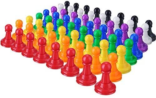 Zonon 64 Pezzi Pedina Pezzi di Plastica Multicolore Pedine Pezzi Giochi da...
