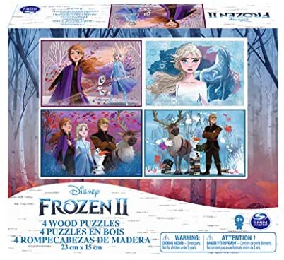 Cardinal Games Frozen II, 4 Puzzle in Legno da 20-24 Pezzi, dai 4 Anni in...