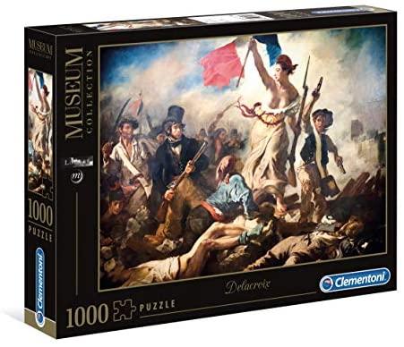 Clementoni - 39549 - Museum Collection Puzzle Louvre - Delacroix, Liberty...