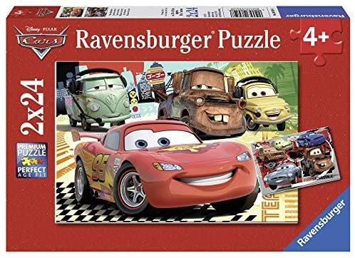 Ravensburger 08959 8 - Le Nuove Avventure di Cars, Puzzle 2x24 Pezzi