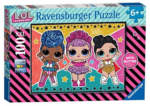 Ravensburger- L.O.L Glitter Puzzle per Bambini, Multicolore, 100 Pezzi,...
