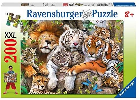 Ravensburger-La Siesta dei Felini Puzzle per Bambini, Multicolore, 200...
