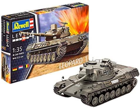Revell- Leopard 1 Kit da Costruire Carro Armato, Colore Grigio, 3240