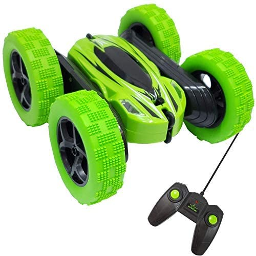Top Race Acrobazie con Telecomando RC Toy 360 ° Flip Radiocontrollato Auto...