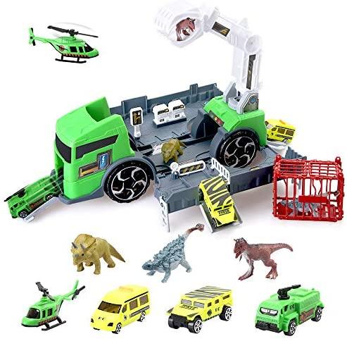 BeebeeRun Dinosauro Giocattolo Camion trasportatore di Dinosauri Animali...