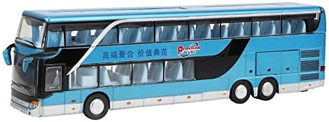 Modello di Autobus Due Piani Pressofuso in Lega con Suono e Luce 1:50...