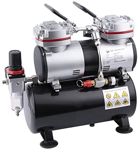 Original Fengda FD-196 - Professionale Compressore Aerografo per modellismo...