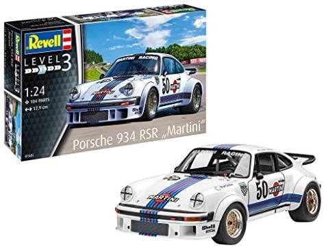 Revell- Porsche 934 RSR Martini Kit di Modelli in plastica, Multicolore,...