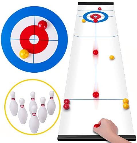 Rolimate curling game giochi per famiglie shuffleboard per bambini e adulti...