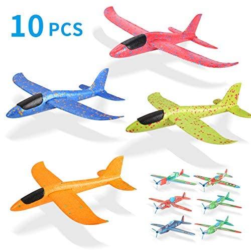 Ulikey 4 PCS Aliante Volante 35cm + 6 PCS 18cm Aerei Alianti in Volo,...