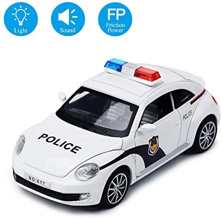 YIJIAOYUN Scala 1:32 Macchina della Polizia elettrica ad attrito Veicolo...