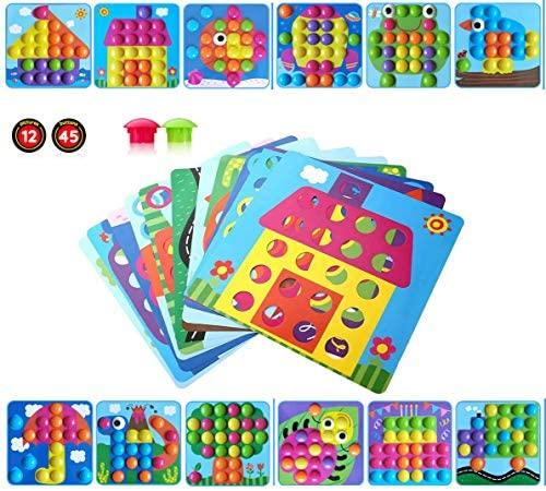 Gioco Bottoni per Bambini Apprendimento Mosaico Unghie Giocattolo 3D Puzzle...