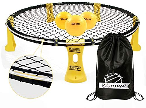 Mookis Blinngoball Set da Gioco da Pallavolo Outdoor Games Set Roundnet Set...