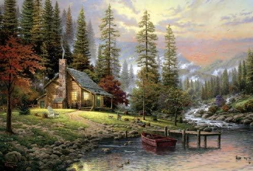 "Schmidt Spiele 58455 - Thomas Kinkade ""Casa tra le montagne"", Puzzle da 500..."