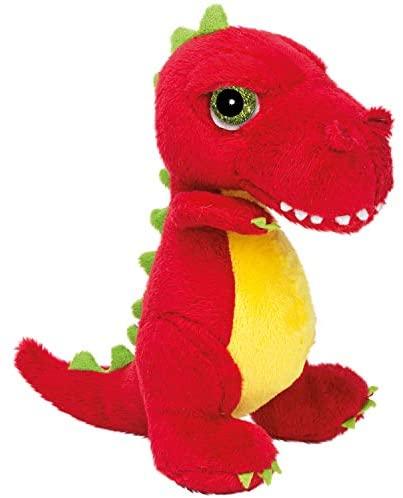 Suki Gifts 14372 - Peluche Dinosauro T-Rex, 17 cm, Rosso