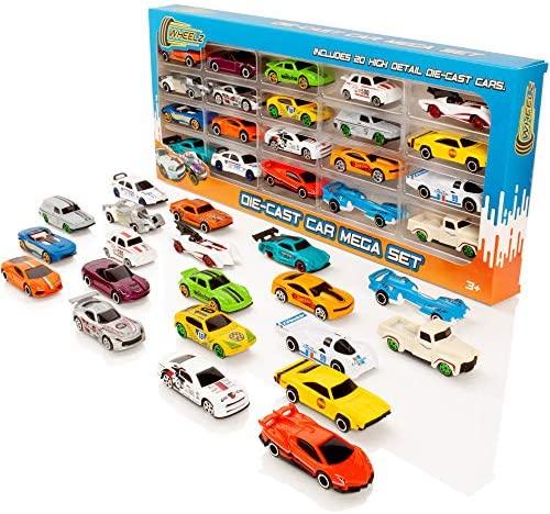 Wheelz Die Cast Cars Set - Auto da Corsa per Bambini Giocattolo Mega 20...