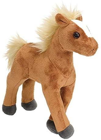 Wild Republic 13595 - Cuddlekins Mini Cavallo di Peluche, 20 cm, Marrone