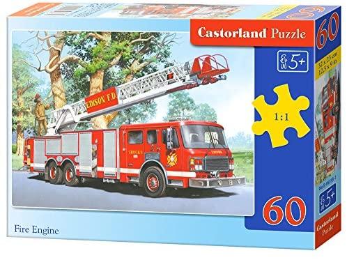 Castorland B-06595-1 - Fire Engine, 60-Sezione, Puzzle Classic