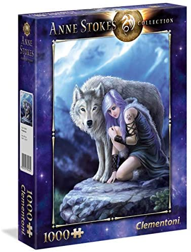 Clementoni- Anne Stokes Collection-Protector Puzzle, 1000 Pezzi,...