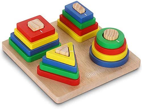 Giocattoli da Puzzle in Legno, Educativo Giocattoli Giochi i Forme...