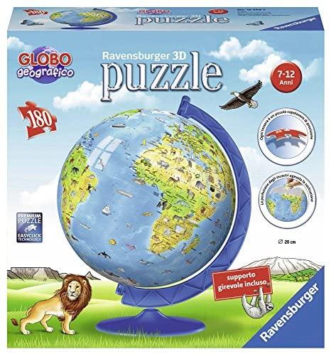 Ravensburger- Globo Geografico Puzzle 3D, Multicolore, 12340 7