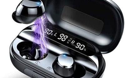 [2020 Ultimo Modello] Cuffie Bluetooth 5.0 Auricolari Bluetooth Senza Fili,…