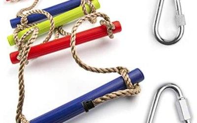 Cateam Scala di Corda Multicolore per Bambini – Scala di Corda per…