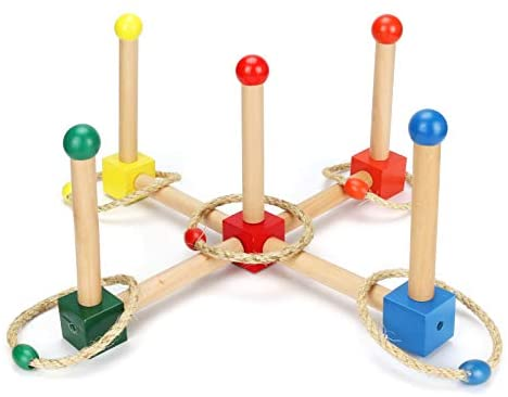 CestMall Ring Toss Game Set, Legno Ring Toss Game Ring Toss con Anelli da...