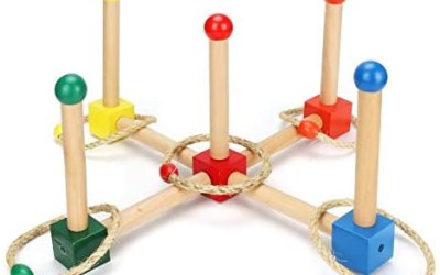 CestMall Ring Toss Game Set, Legno Ring Toss Game Ring Toss con Anelli da…