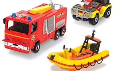 Dickie Toys 203099629401–Pompiere Sam dreiteiliges Veicolo Set