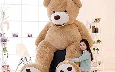 Dis, orso di peluche gigante, imbottito, colore: marrone e viola, Light…