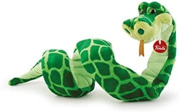 Trudi- Serpente Cyrano Peluche, Colore Verde, 110 cm, 27766