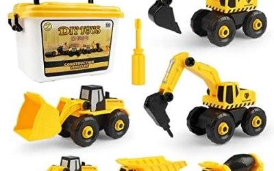 Wenosda Giocattolo Camion Escavatori Smonta i Giocattoli per Bambini Set di…