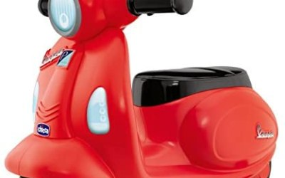 Chicco Vespa Elettrica per Bambini Primavera Rossa, Moto Giocattolo…