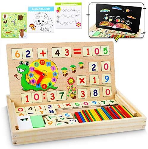 lenbest Set di Giochi Montessori in Legno Magnetico, Giocattoli Giochi...