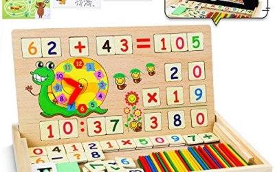 lenbest Set di Giochi Montessori in Legno Magnetico, Giocattoli Giochi…