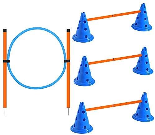 X XBEN - Set di agilità per cani, ostacoli di attività del cane, altezza...