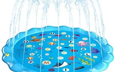 Fostoy Tappetino per Giochi d'Acqua, 170cm Giochi d'Acqua Giardino Sprinkle…