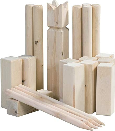 MaxxGarden Kubb - Gioco in legno per attività all'aperto, in legno svedese