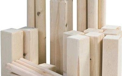MaxxGarden Kubb – Gioco in legno per attività all'aperto, in legno svedese