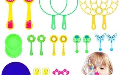 Fansport Bolle di Sapone, 22Pcs Bacchetta A Bolle per Bambini Creativo…