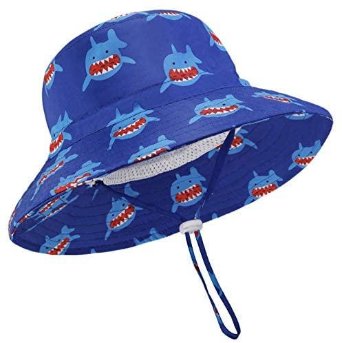 JUPSK Cappello da Pescatore per Bambini,Cappello da Sole Unisex a Tesa...