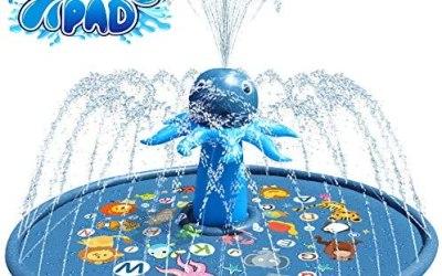 Baztoy Tappetino Gioco d'Acqua per Bambini, Spruzzi Giocattoli Sprinkler…