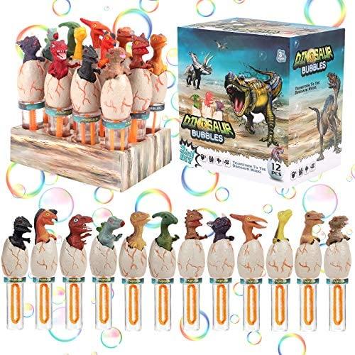 Latocos 12 Dinosauro Bolle di Sapone Bacchetta per Bolle Bubble Maker...