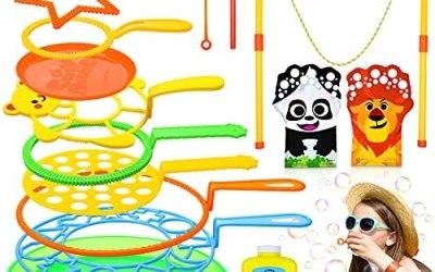 Flyfun Bolle di Sapone Set per Bambini, 16 Pezzi Bacchetta A Bolle Sicuro e…