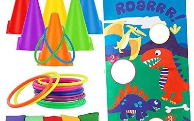 ThinkMax – Set di giochi all'aperto per bambini, sacco di fagioli per…