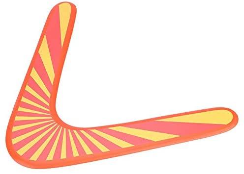 Boomerang in Legno Arancione Throwback V a Forma di Boomerang Flying Disc...