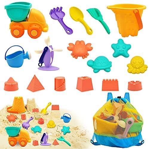Euyecety Giocattoli da Spiaggia per Bambini, Giochi Spiaggia 18 Pezzi Set...